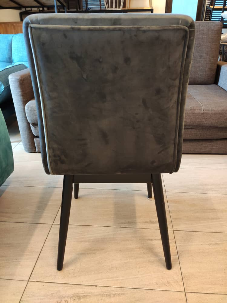 Set of 2 : Dining Chair with Fabric Cushion Seat Back, Modern Mid Century Living Room Side Chairs with Sturdy Wood Legs for Dining Room