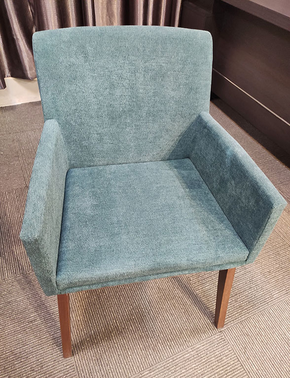 Elegant Fabric Cushion Dining Chairs with Sturdy Solid Wood Legs / Fabric Chair / Arms Chair