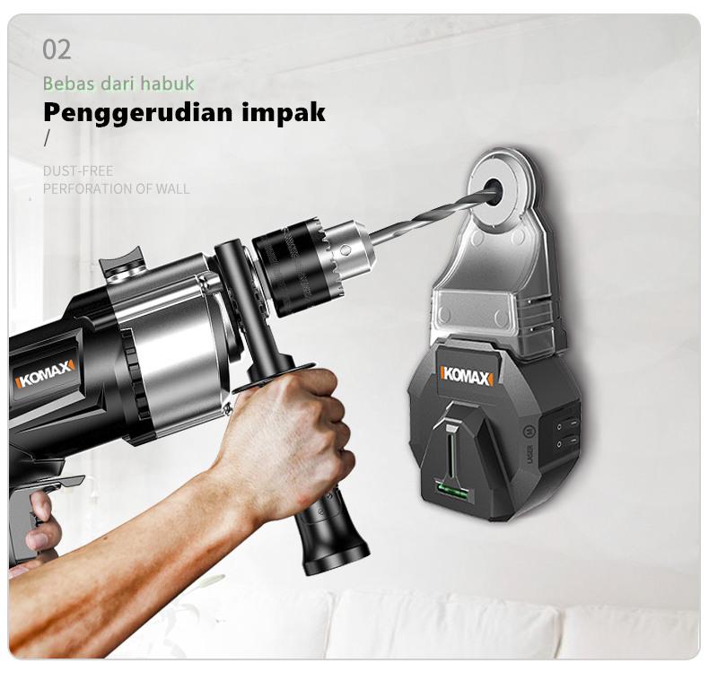 Komax Electric Drilling Dust Collector / Wall Dust Collection / Removal Dust Collector Tool / Pengumpul habuk gerudi