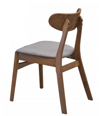 Modern Solidwood Dining Cafe Chair with Fabric Seat