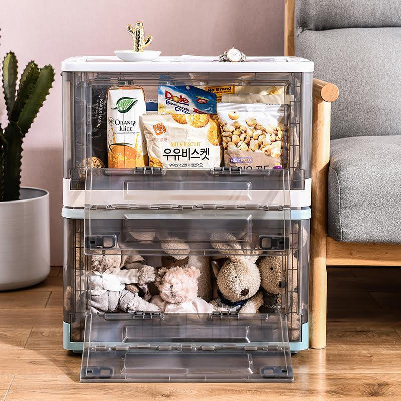 Large Foldable Stackable Storage Box Closet Organizer