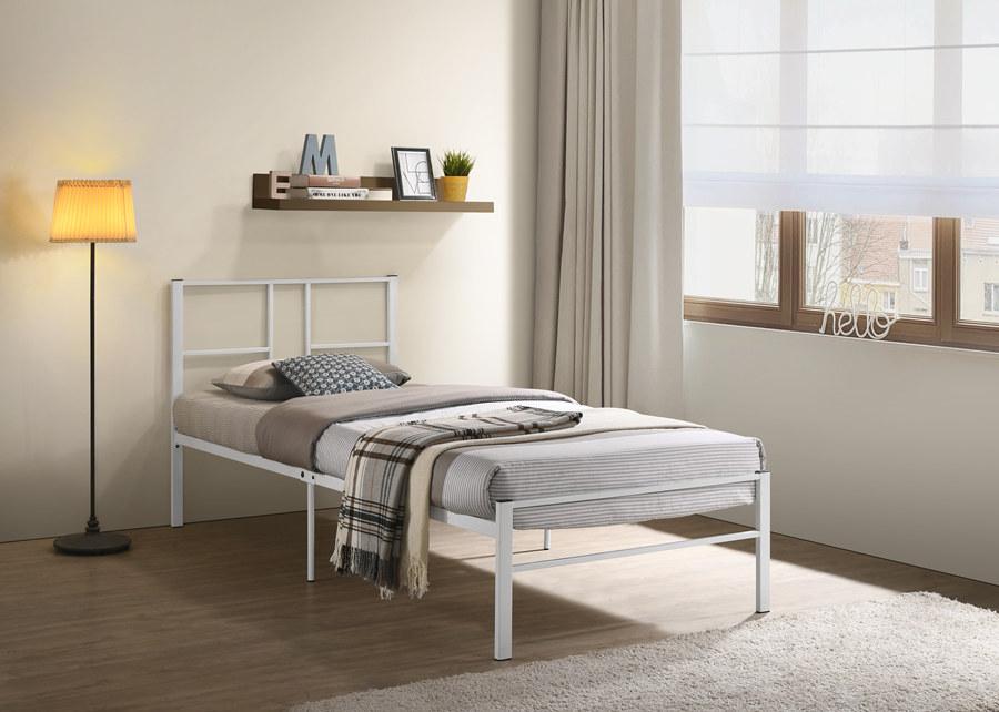 White Single Metal Bed Frame / Katil Besi Bujang