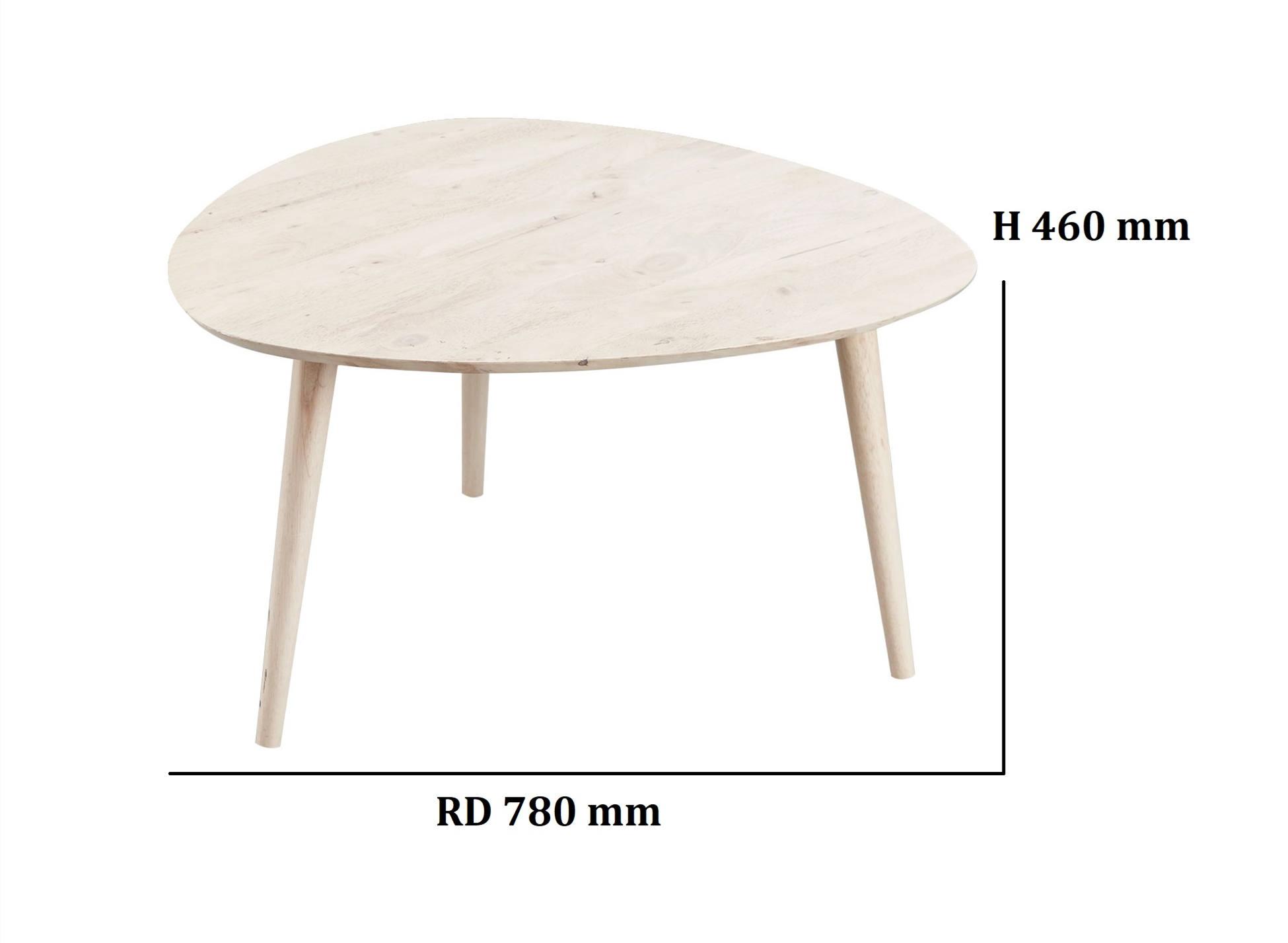 Simple Scandinavian Style Solid Rubberwood Coffee / Side Table