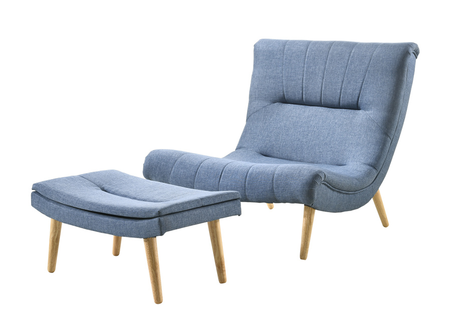 Simple Scandinavian Style Solidwood Frame With Fabric Upholstered Lounge Chair / Single Sofa / Relax Chair