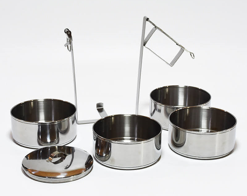 Stainless Steel Traditional Lunch Box / Food Container / Tiffin